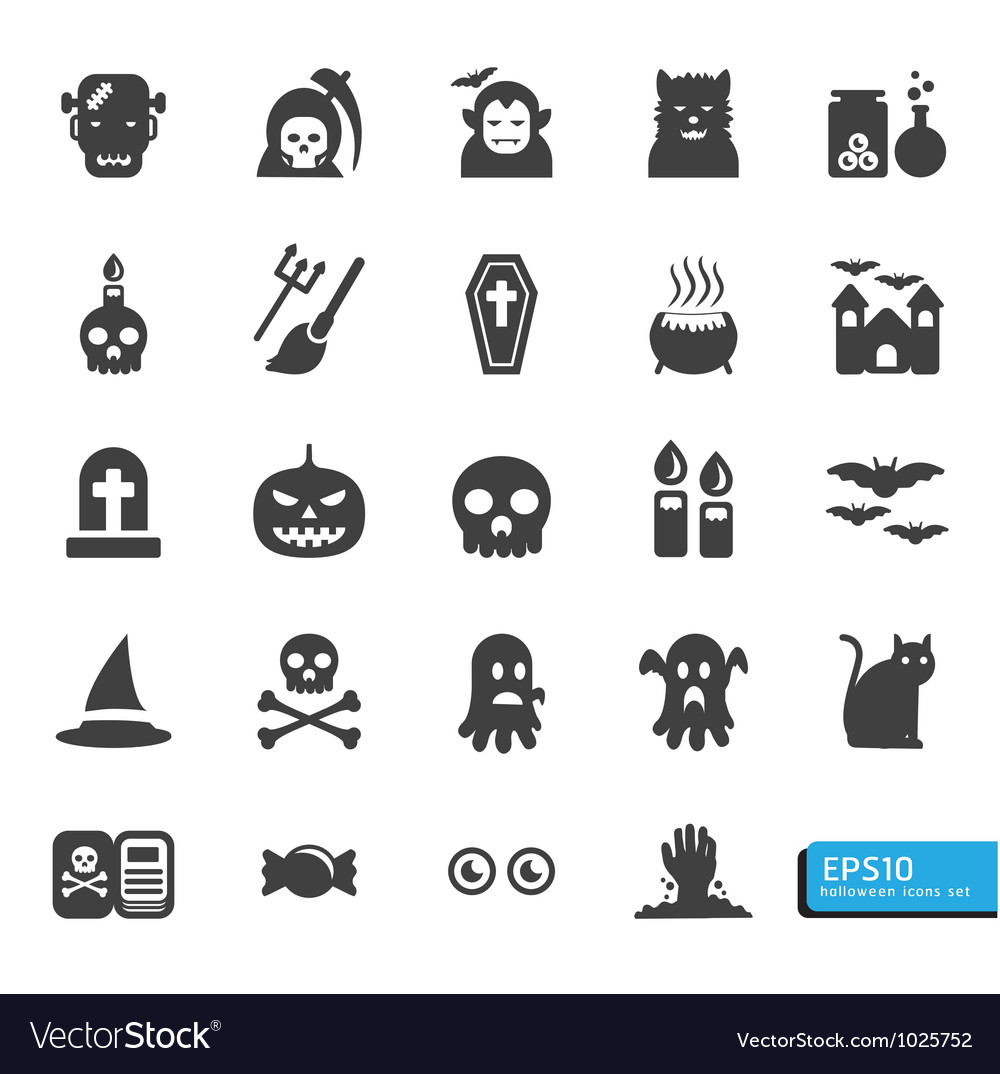 Halloween icon set vector | Price: 1 Credit (USD $1)