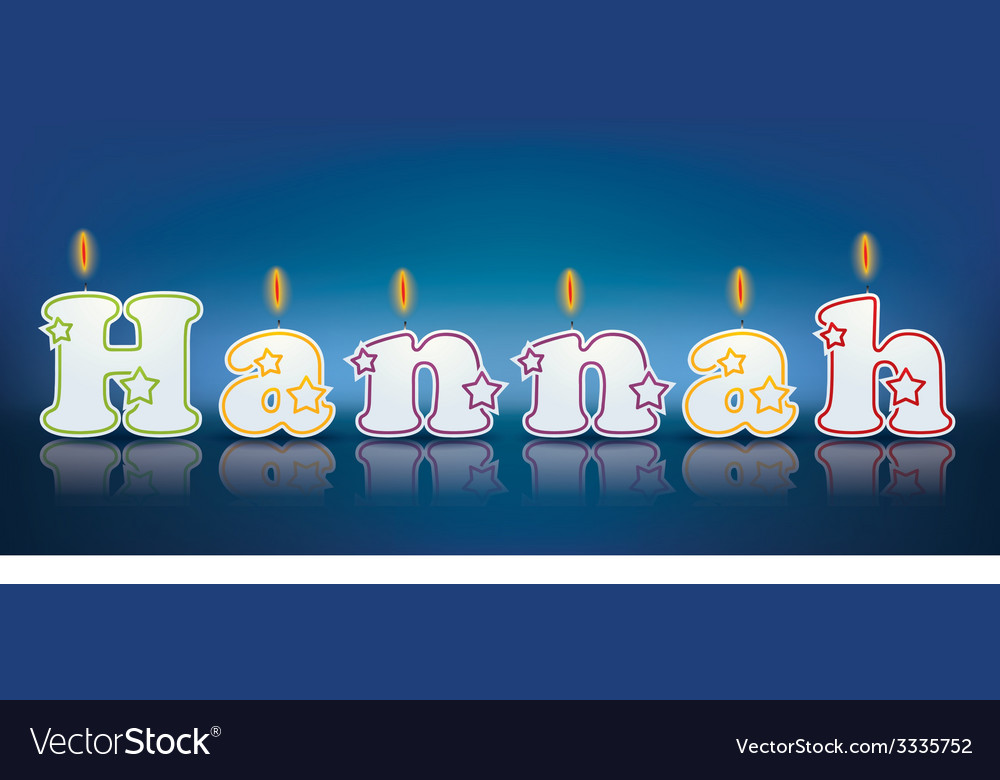 Hannah written with burning candles vector | Price: 1 Credit (USD $1)