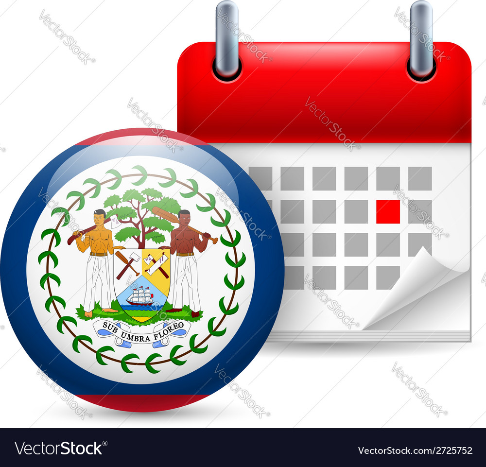 Icon of national day in belize vector | Price: 1 Credit (USD $1)