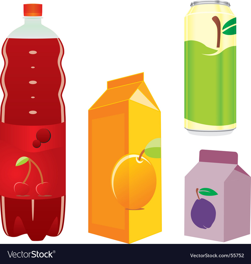Juice containers vector | Price: 1 Credit (USD $1)