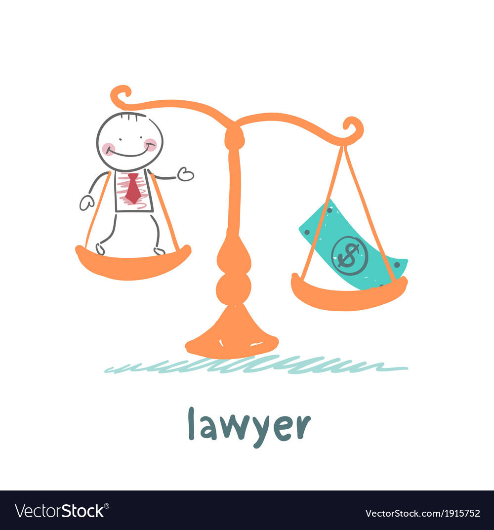 Lawyer is in the balance with the money vector | Price: 1 Credit (USD $1)