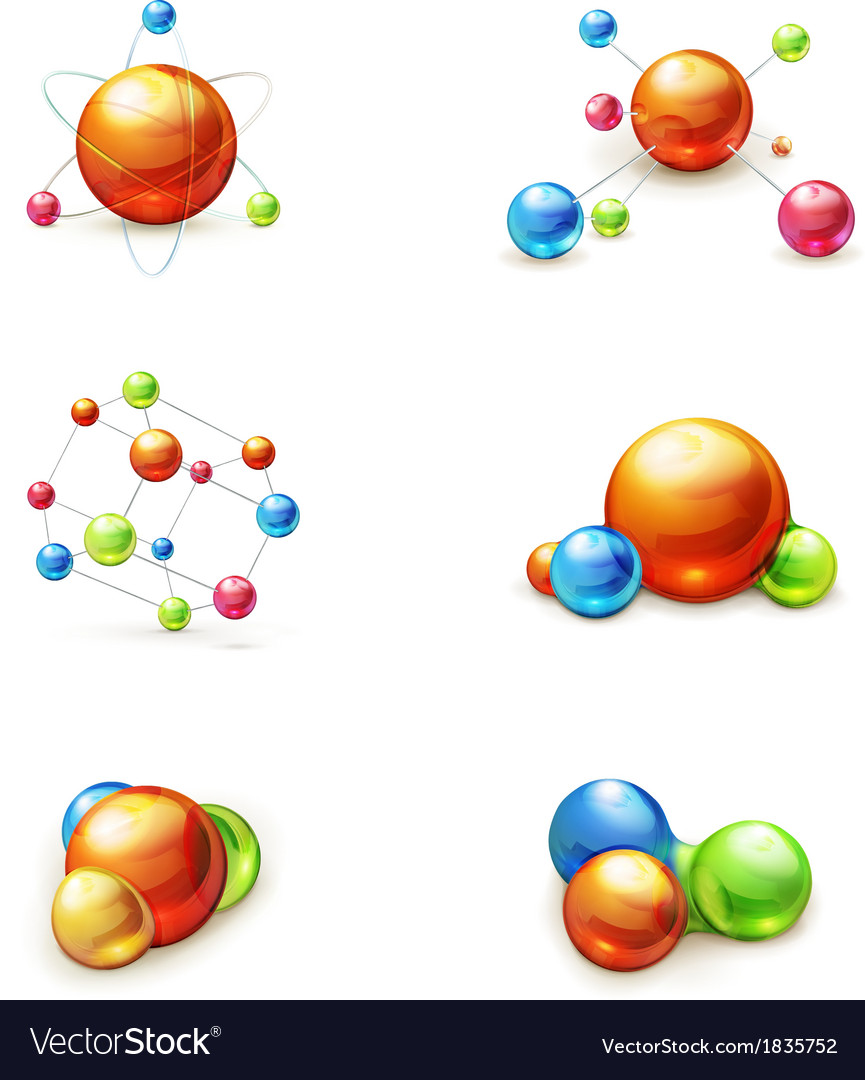 Molecule icon set vector | Price: 1 Credit (USD $1)