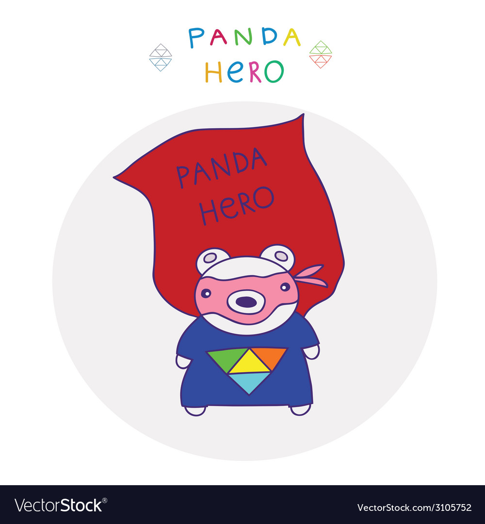 Panda superman vector | Price: 1 Credit (USD $1)