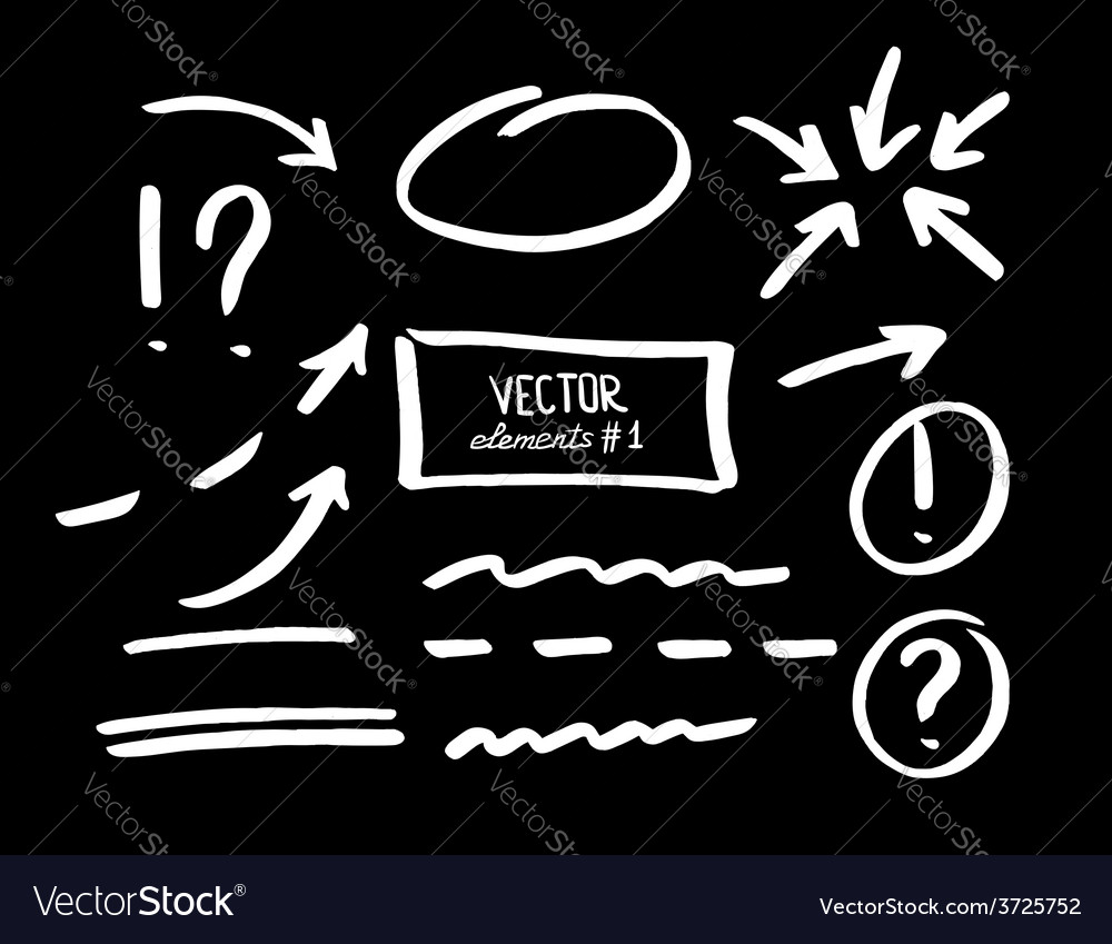 Set of correction and highlight elements part 1 vector | Price: 1 Credit (USD $1)