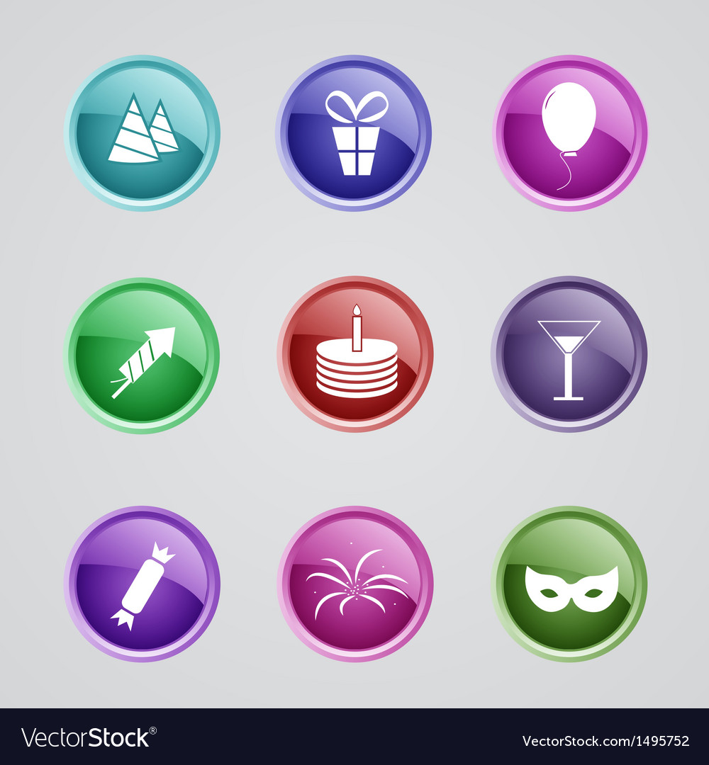 Set of party icons vector | Price: 1 Credit (USD $1)