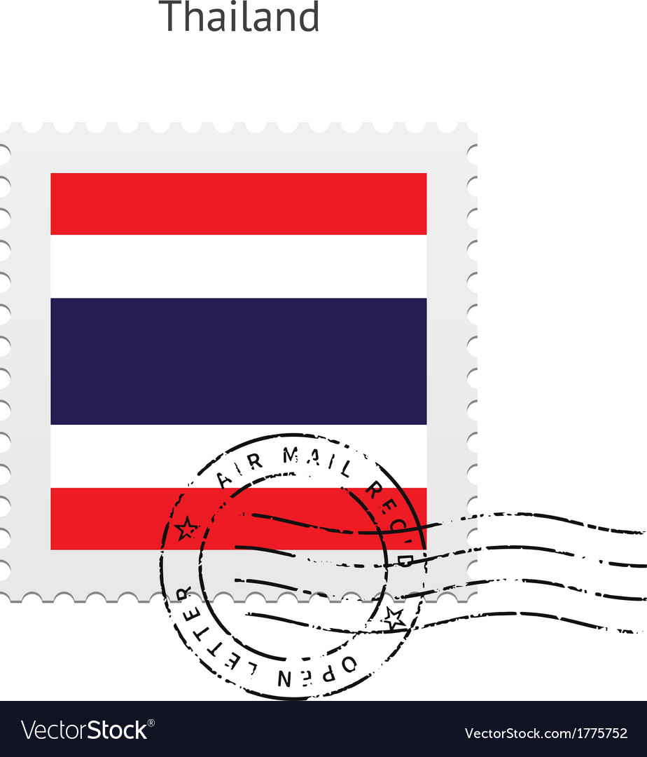 Thailand flag postage stamp vector | Price: 1 Credit (USD $1)