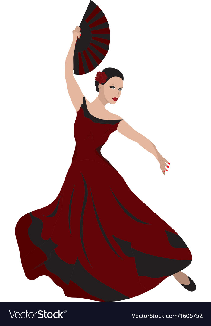 Woman dancing flamenco vector | Price: 1 Credit (USD $1)