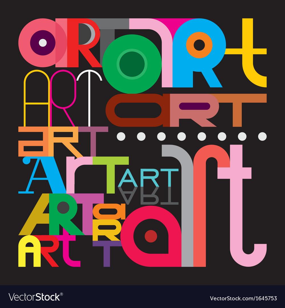 Art text design vector | Price: 1 Credit (USD $1)