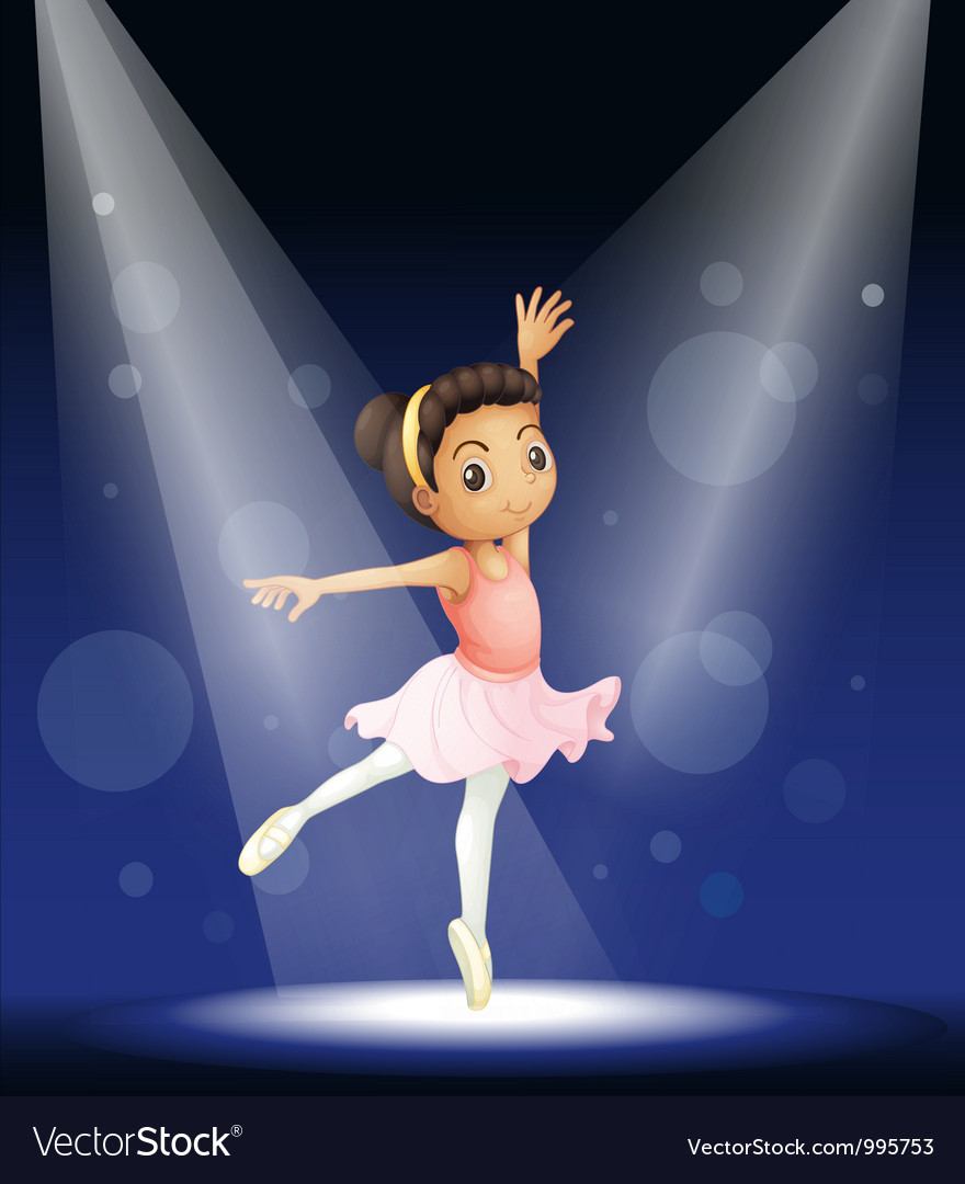 Ballerina stage performance vector | Price: 1 Credit (USD $1)