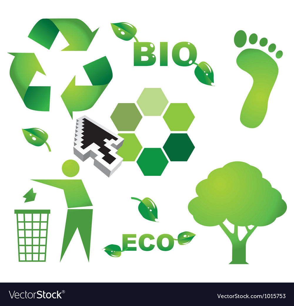 Bio eco icon symbols vector | Price: 1 Credit (USD $1)
