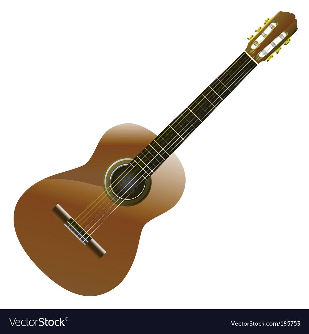 Classic guitar vector | Price: 1 Credit (USD $1)