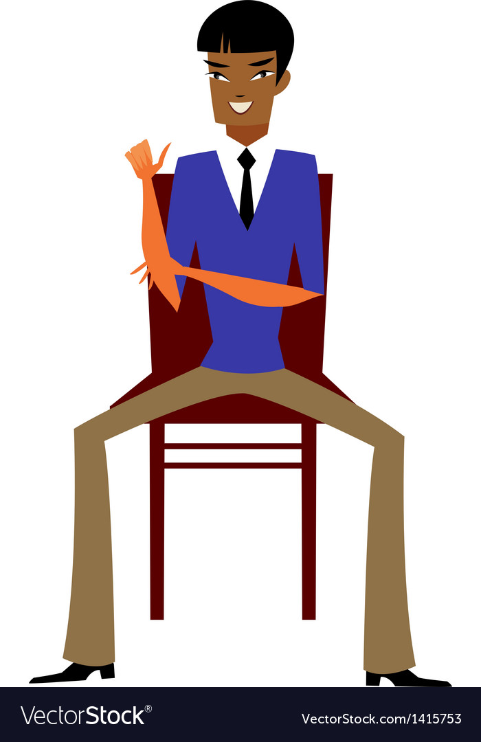 Close-up of man sitting vector | Price: 1 Credit (USD $1)