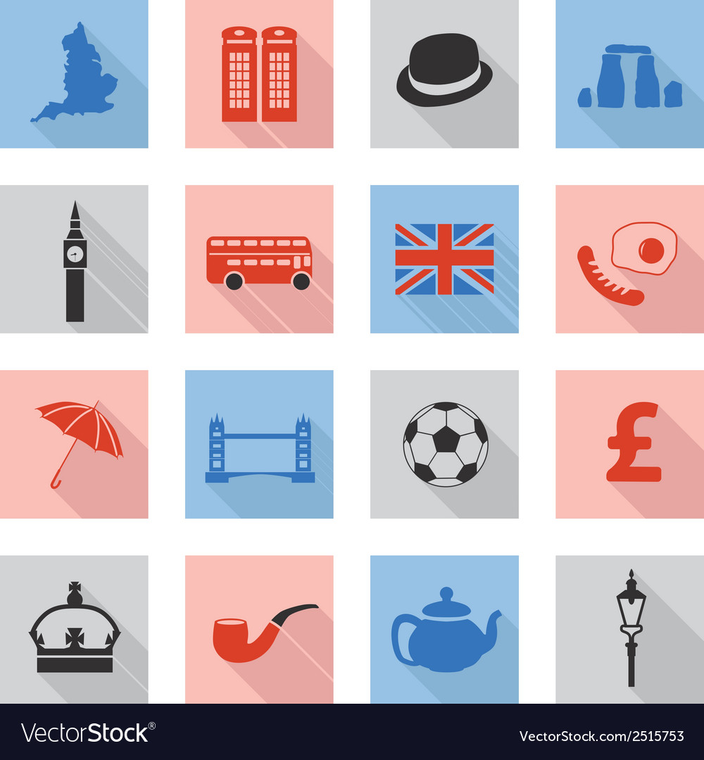 England flat icons vector | Price: 1 Credit (USD $1)