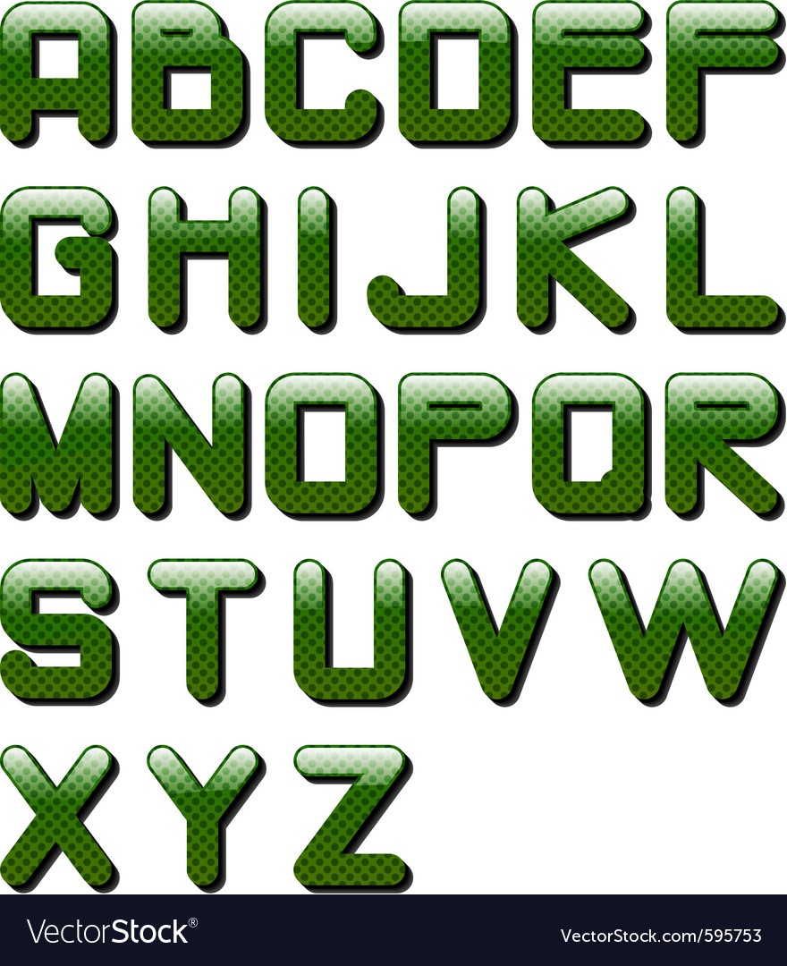 Eps10 glossy alphabet vector | Price: 1 Credit (USD $1)