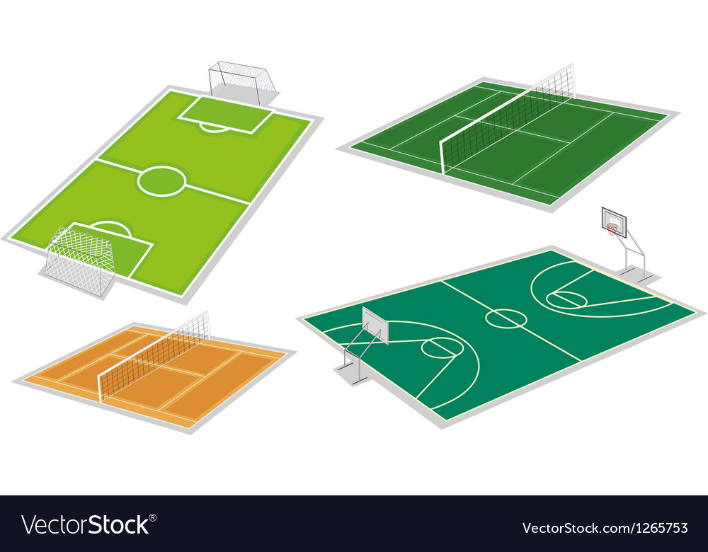 Four different kinds of courts vector | Price: 1 Credit (USD $1)