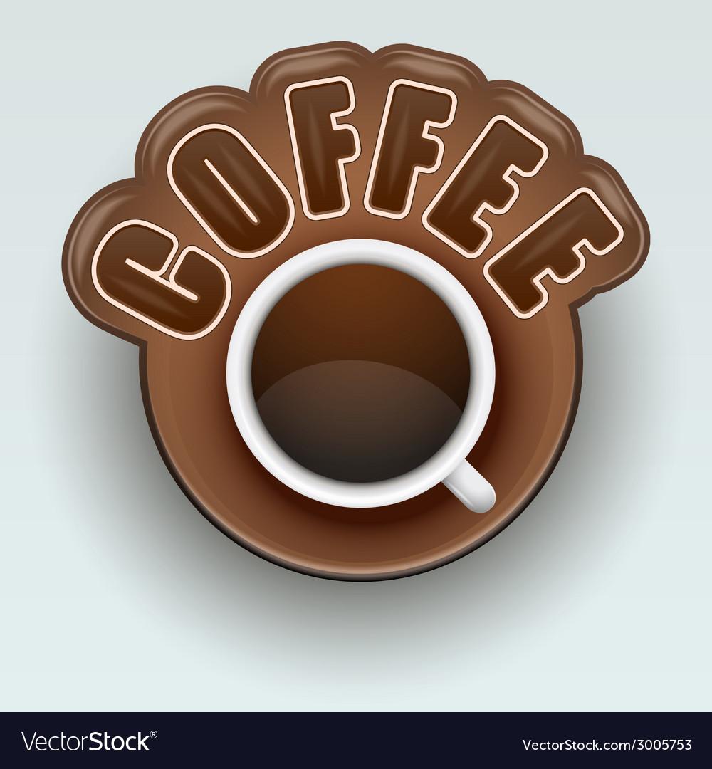 Label of coffee symbol for menu vector | Price: 1 Credit (USD $1)