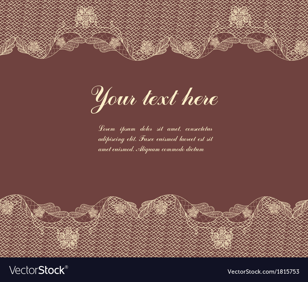 Lace on brown background vector | Price: 1 Credit (USD $1)