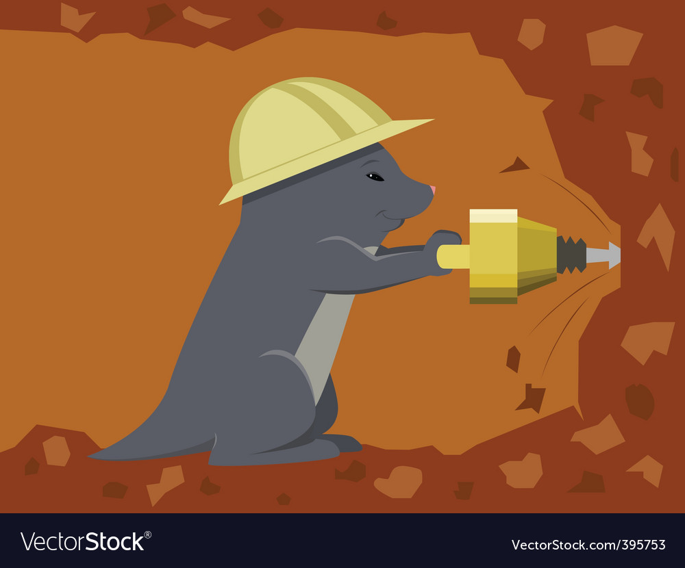 Mole labourer vector | Price: 1 Credit (USD $1)