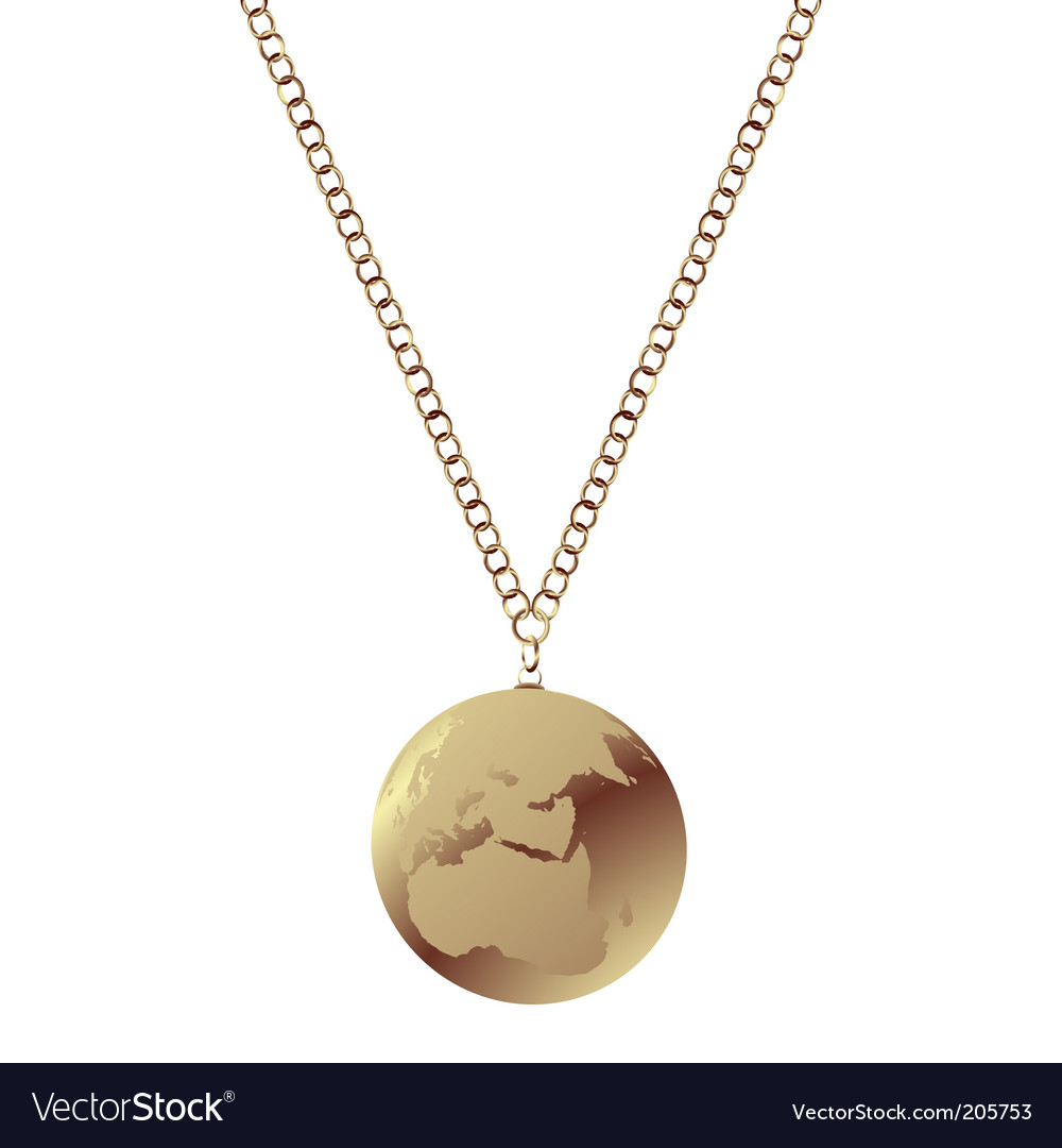 Polished gold necklace vector | Price: 1 Credit (USD $1)