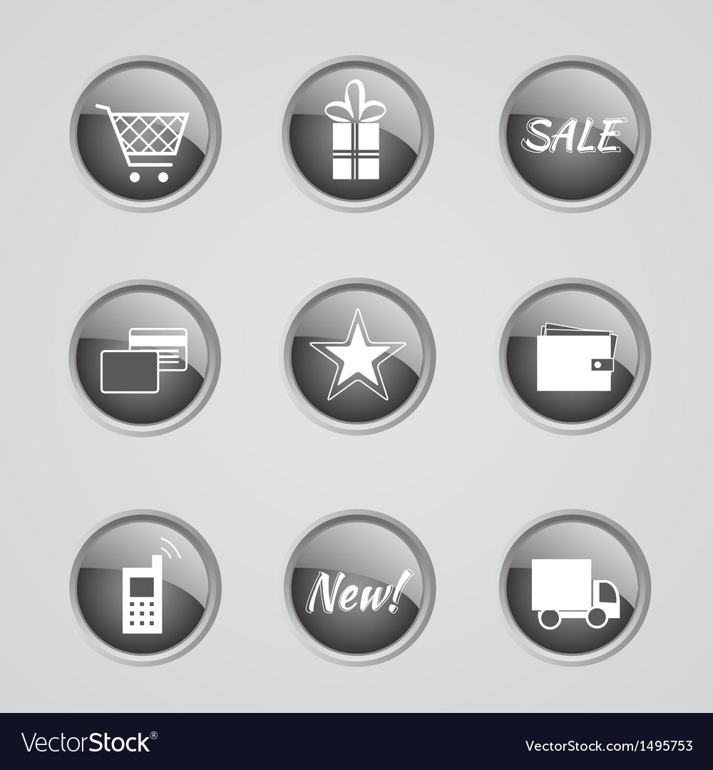 Set of internet shop icons vector | Price: 1 Credit (USD $1)