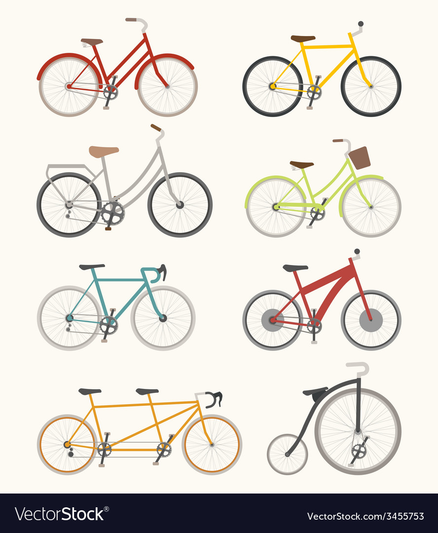 Set of retro bicycle vector | Price: 1 Credit (USD $1)