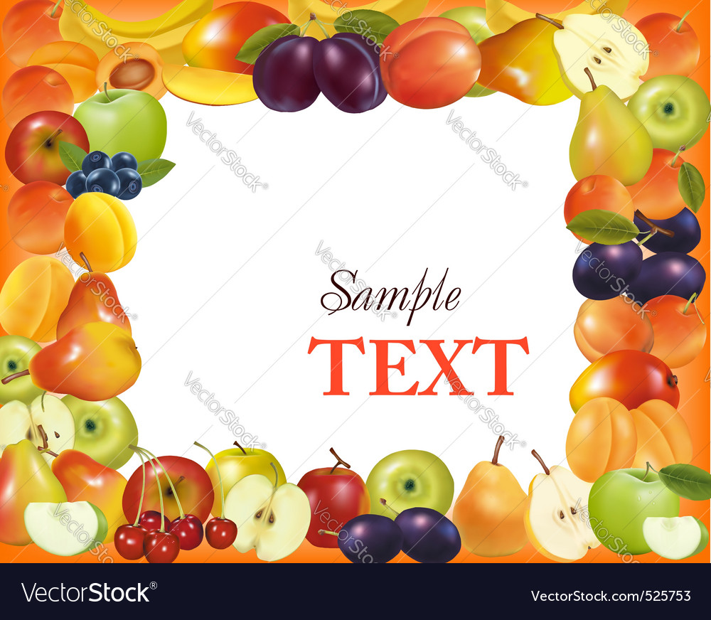Sweet fruit background vector | Price: 3 Credit (USD $3)