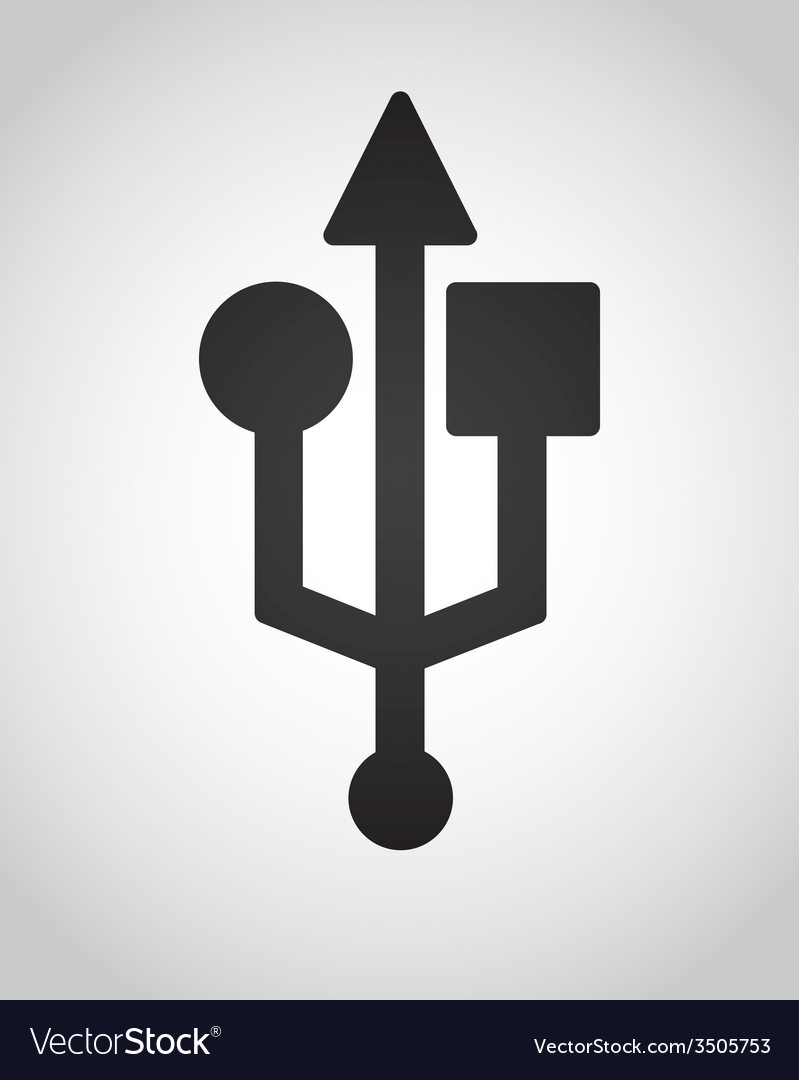 Usb icon design vector | Price: 1 Credit (USD $1)