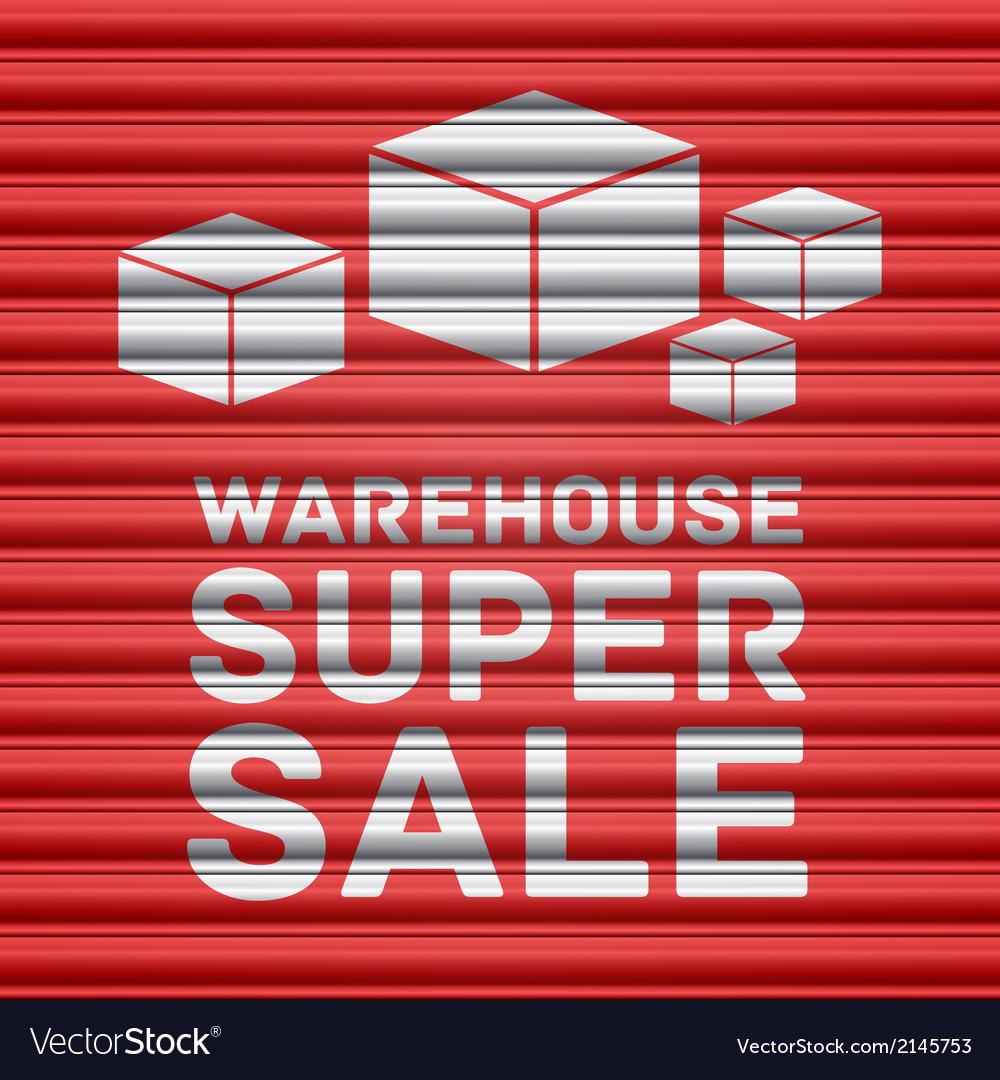 Warehouse super sale design vector | Price: 1 Credit (USD $1)