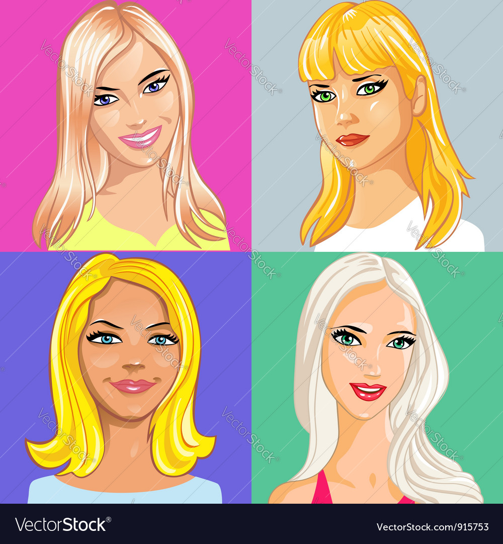 Young beautiful blonde vector | Price: 5 Credit (USD $5)