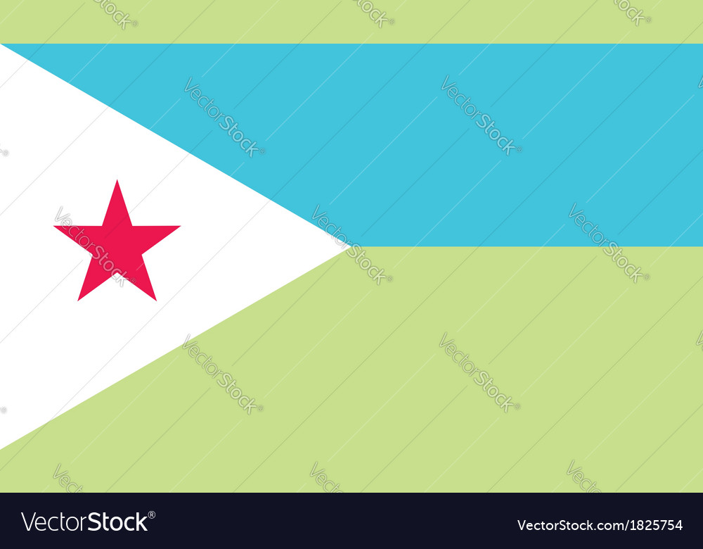 Djibouti flag vector | Price: 1 Credit (USD $1)