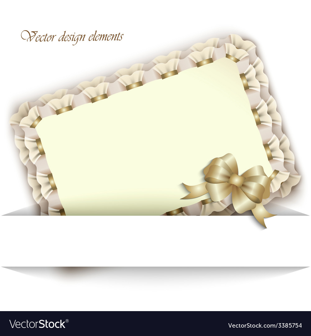 Elegant card for your invitations and greetings vector | Price: 1 Credit (USD $1)