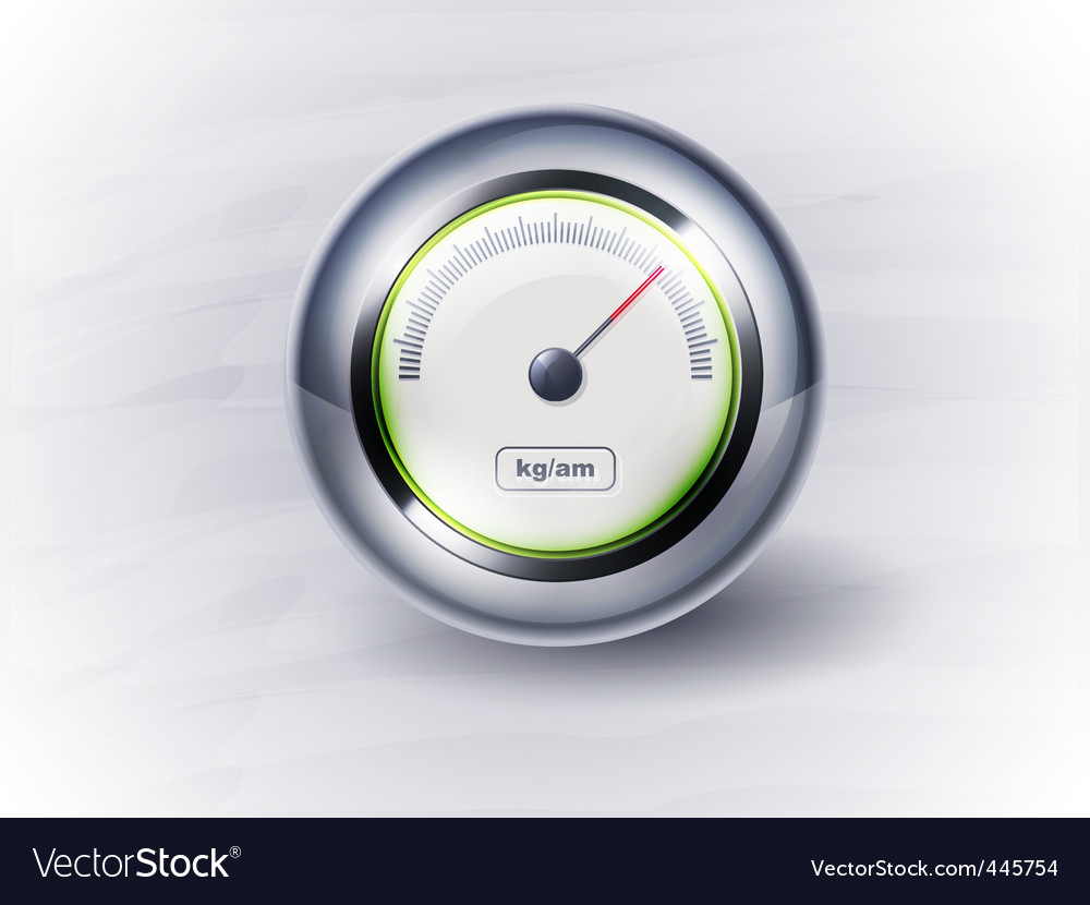 Icon speedometer or clock eps vector | Price: 1 Credit (USD $1)