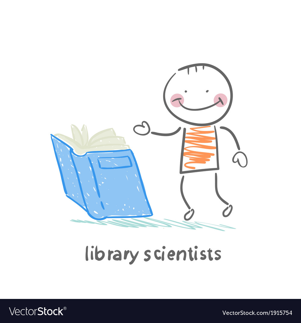 Library scientists reading a book vector | Price: 1 Credit (USD $1)
