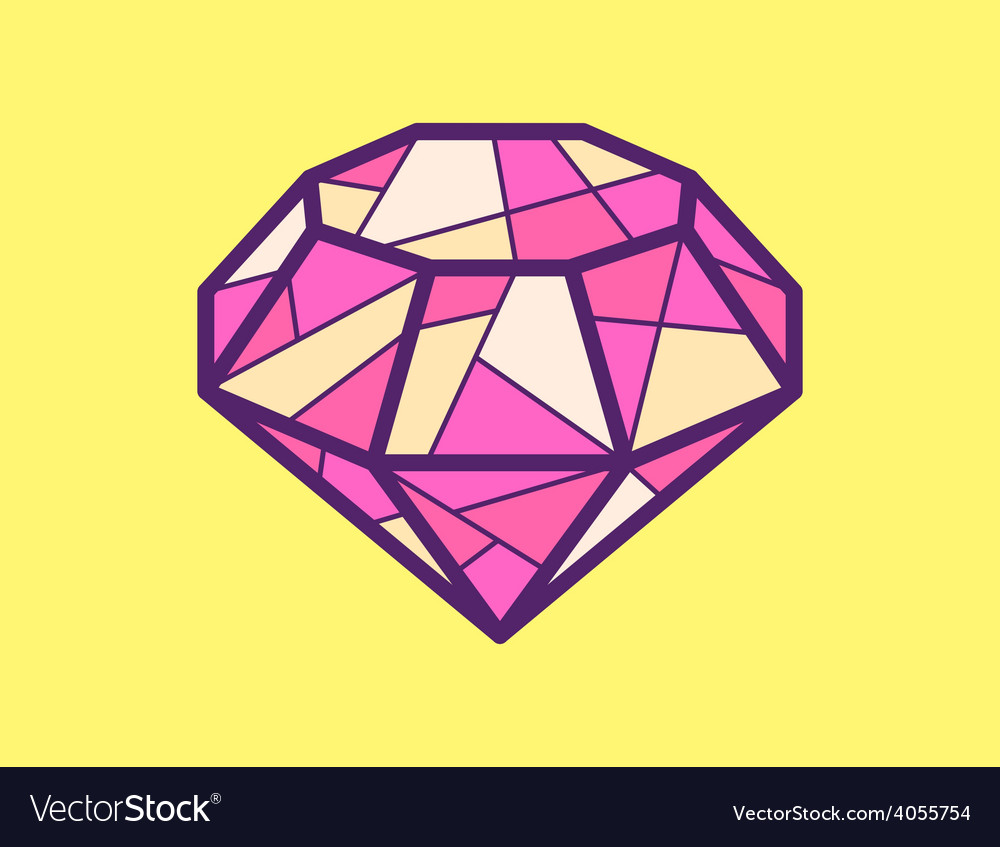 Red ruby on yellow background vector | Price: 1 Credit (USD $1)