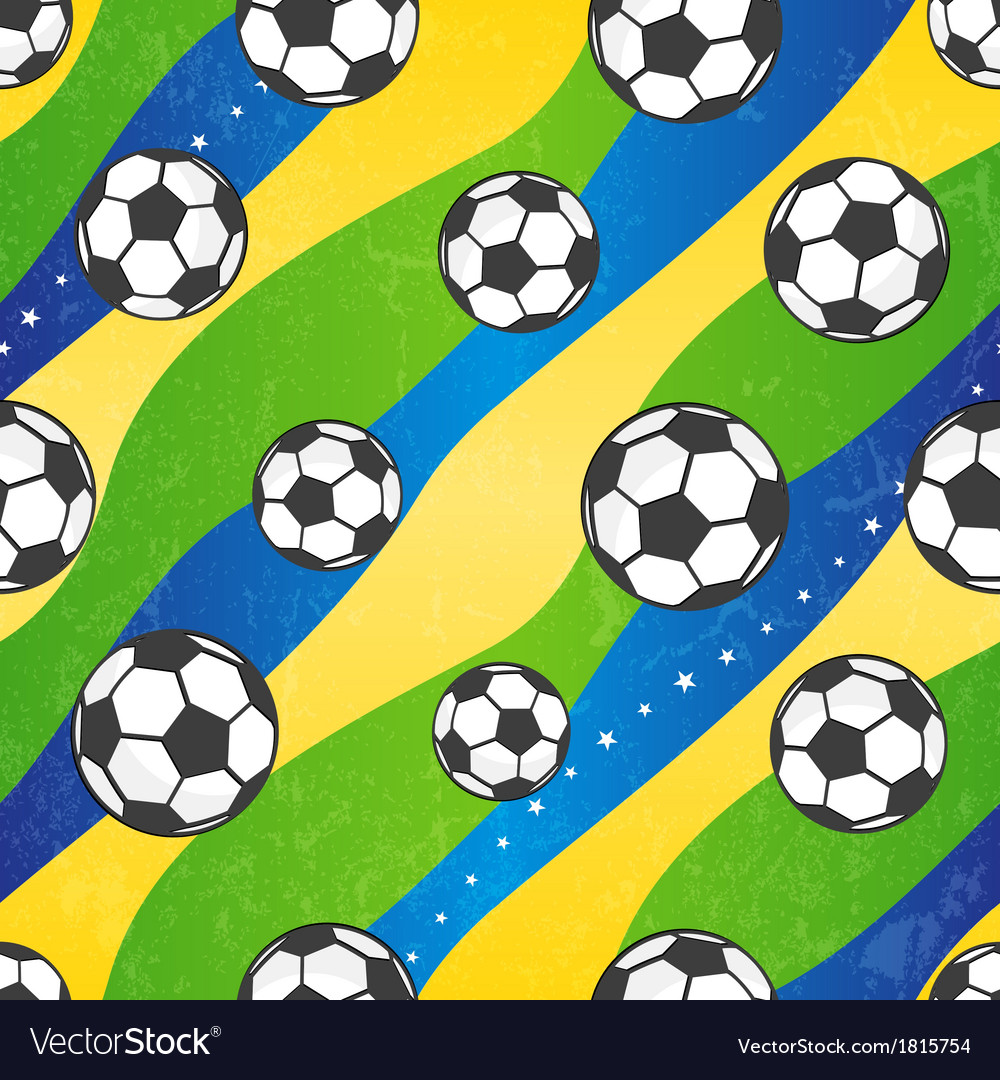 Seamless football pattern background vector | Price: 1 Credit (USD $1)