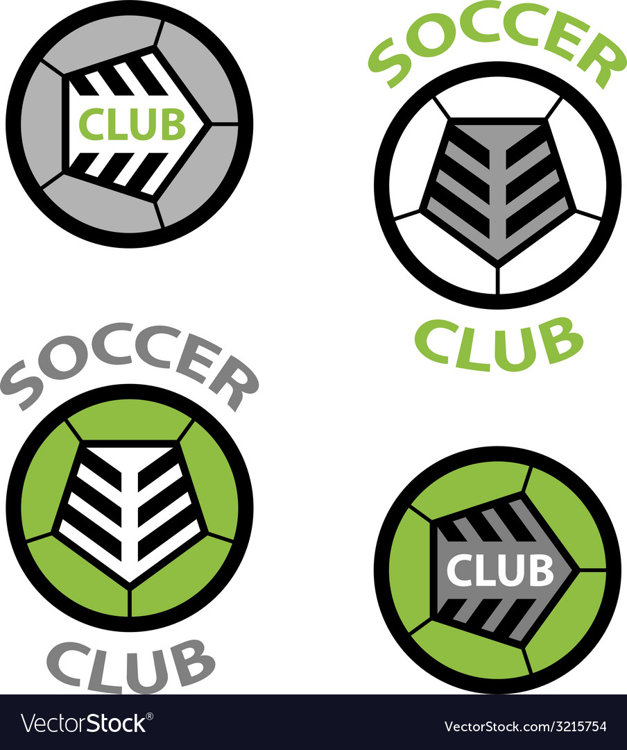 Soccer club emblem ball shoelace vector | Price: 1 Credit (USD $1)