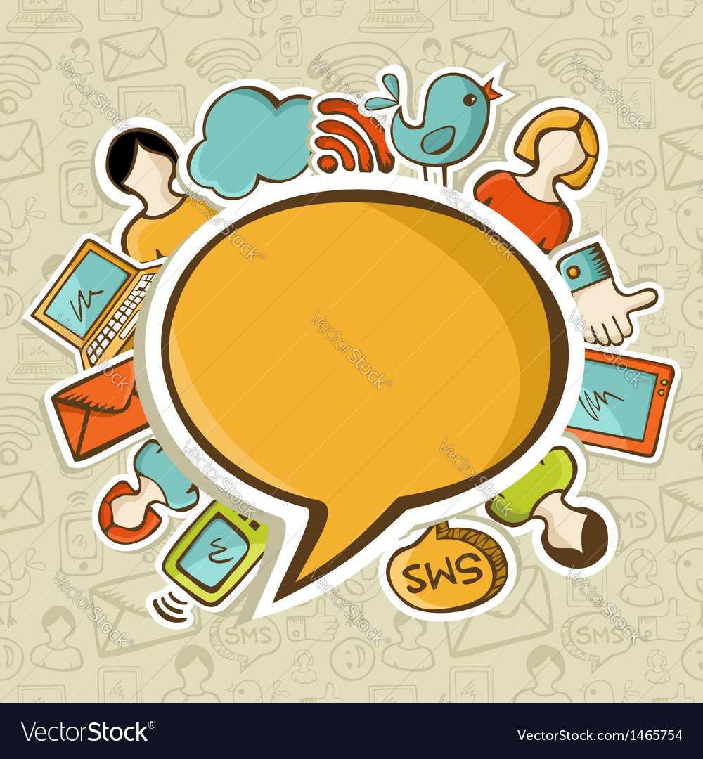 Social media networks communication concept vector | Price: 1 Credit (USD $1)