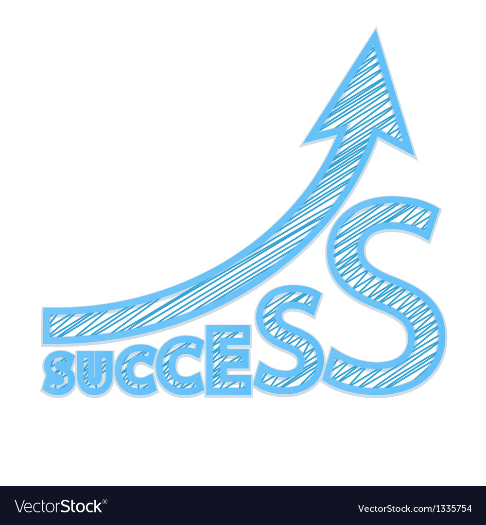 Success graph vector | Price: 1 Credit (USD $1)