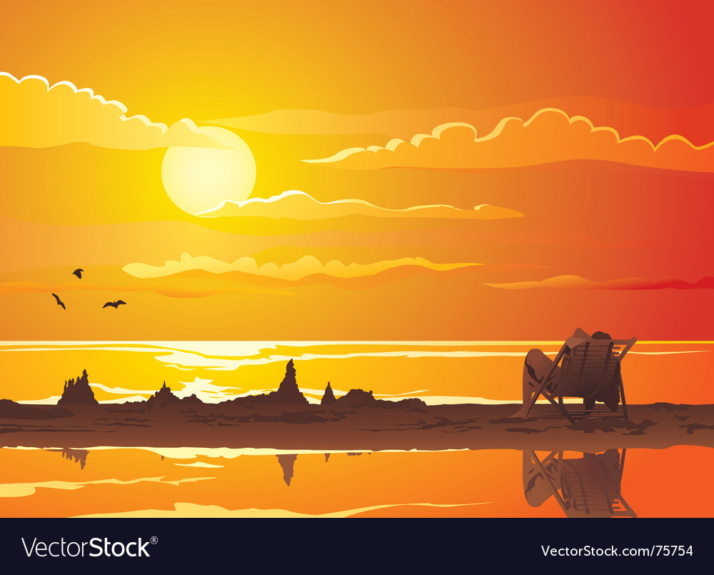 Sunset vector | Price: 3 Credit (USD $3)