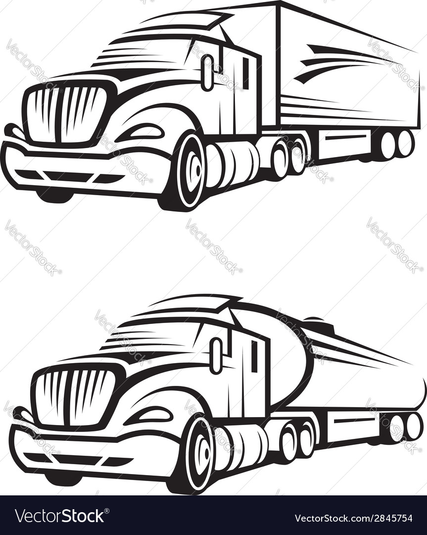 Truck and tank truck vector | Price: 1 Credit (USD $1)