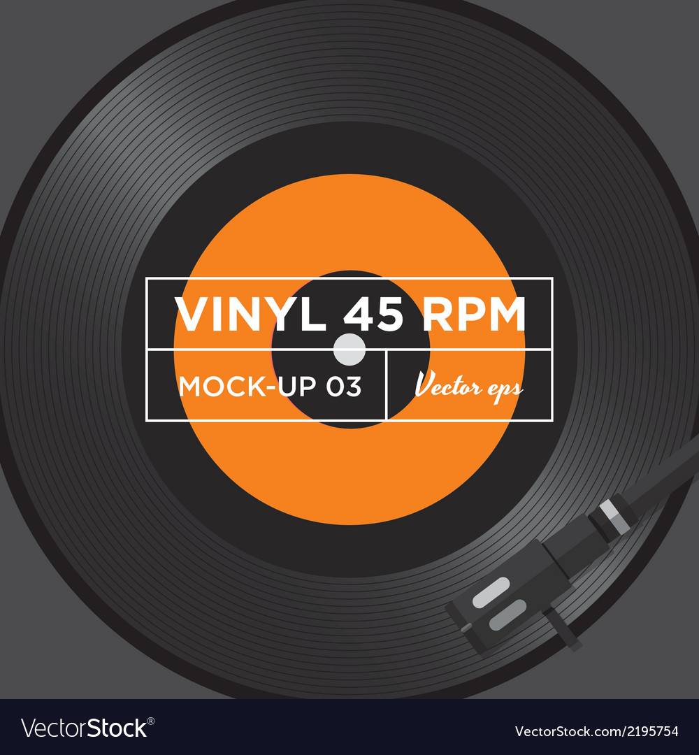 Vinyl 45 rpm mockup 03 vector | Price: 1 Credit (USD $1)