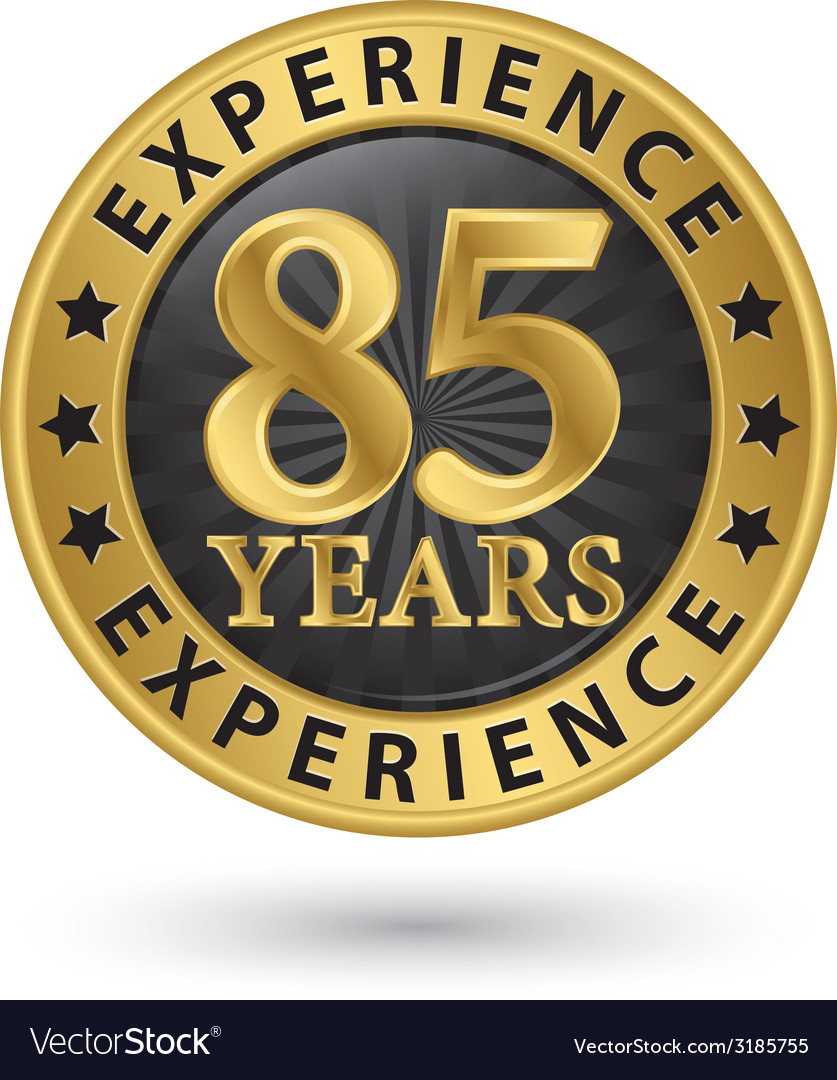 85 years experience gold label vector | Price: 1 Credit (USD $1)