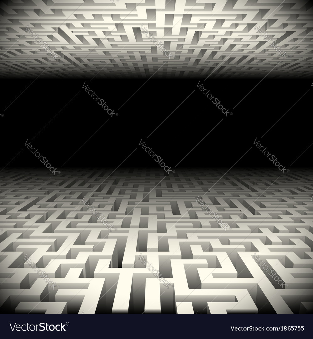 Abstract white perspective labyrinth in the vector | Price: 1 Credit (USD $1)