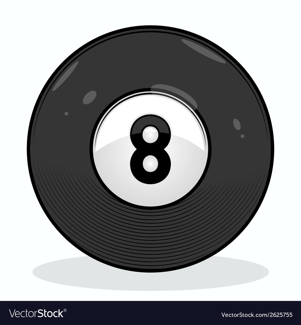 Billiard eight ball vector | Price: 1 Credit (USD $1)
