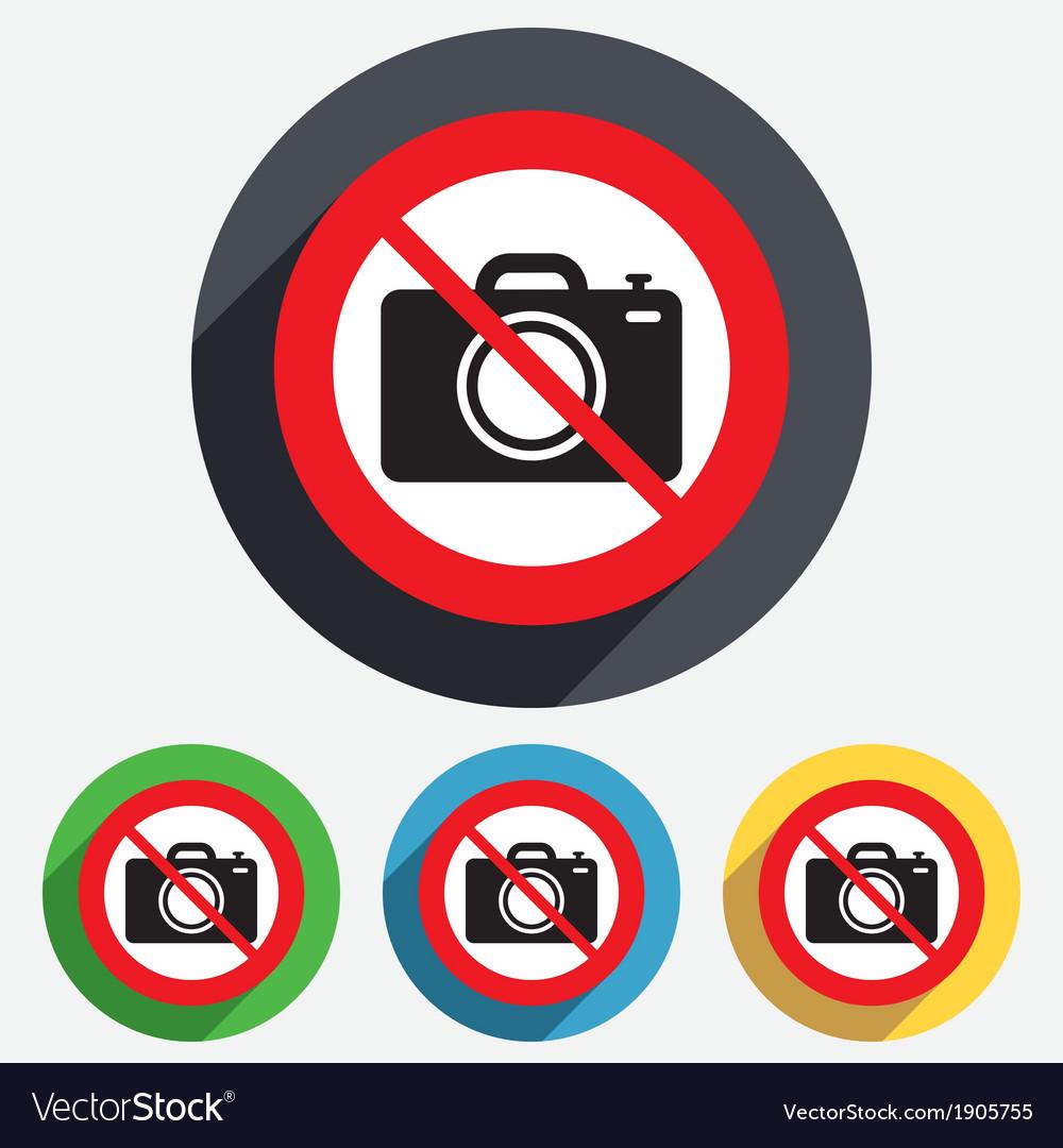 Do not photo camera sign icon photo symbol vector | Price: 1 Credit (USD $1)
