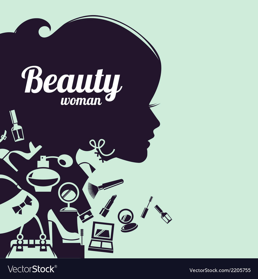 Fashion beautiful woman silhouette vector | Price: 1 Credit (USD $1)