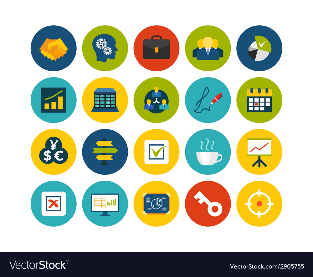 Flat icons set 25 vector | Price: 1 Credit (USD $1)