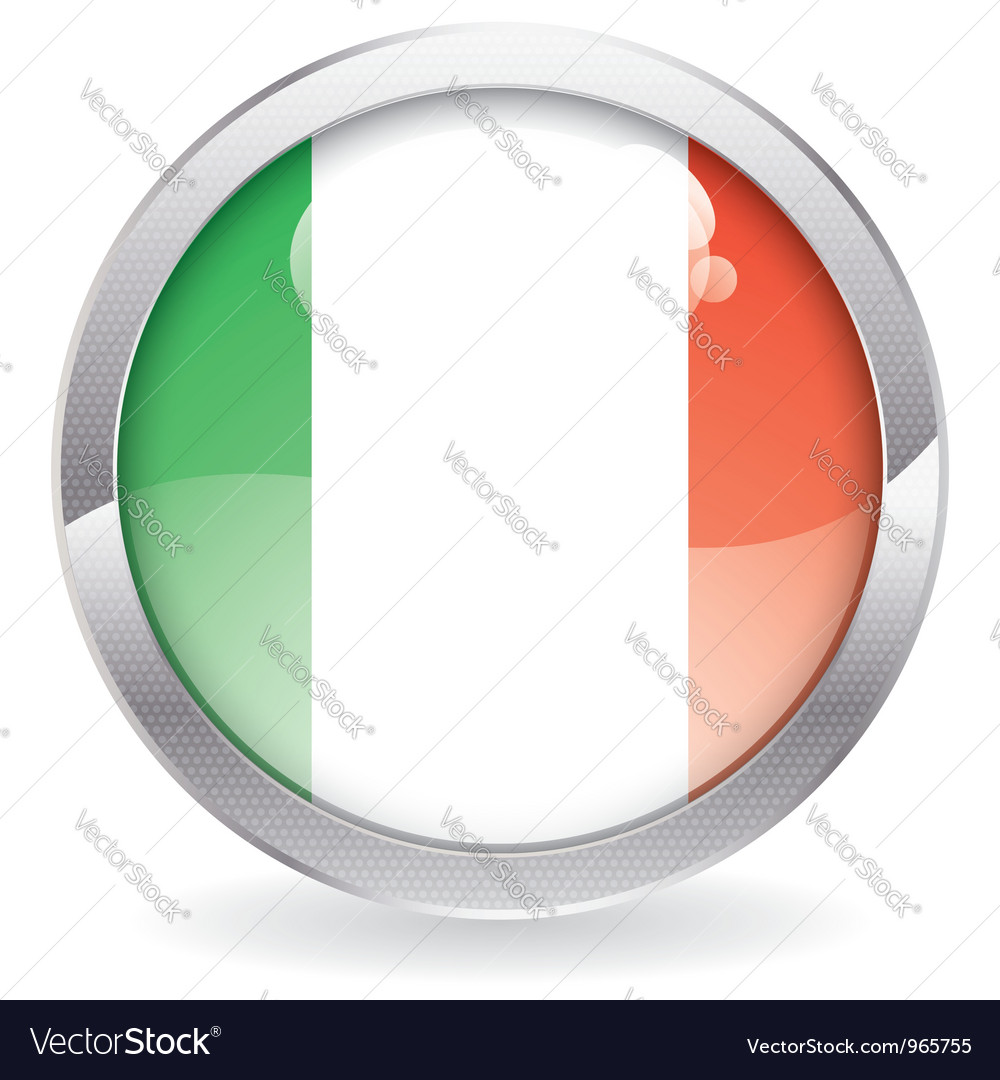 Gloss button with italy flag vector   Price: 1 Credit (USD $1)