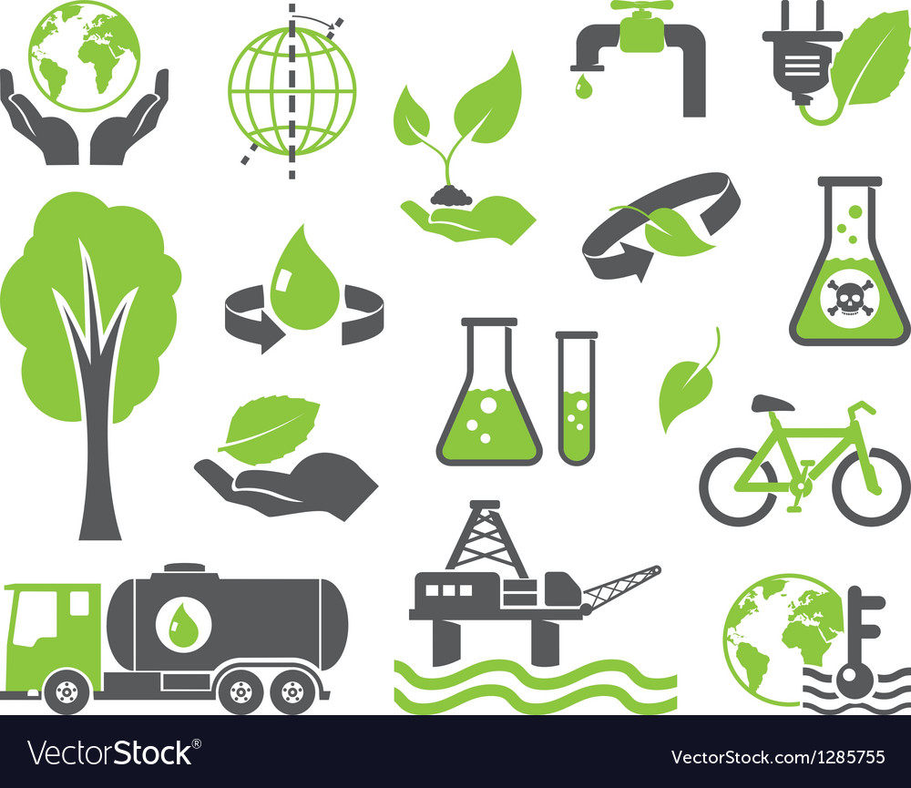 Green planet symbols vector | Price: 1 Credit (USD $1)