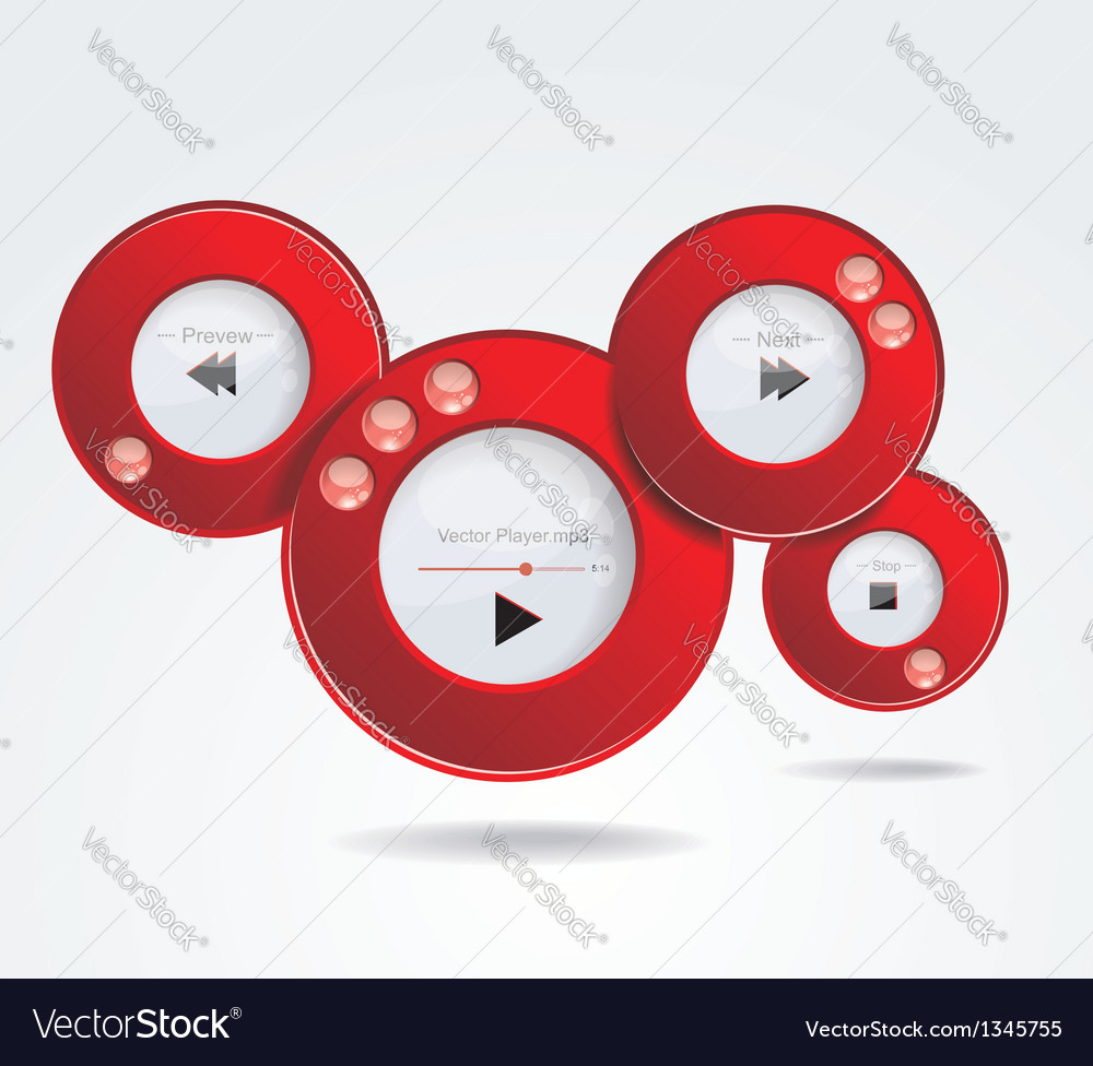 Light web elements buttons switchers player audio vector | Price: 1 Credit (USD $1)